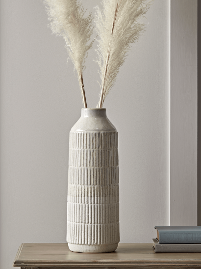 NEW Two Tone Cream Vase