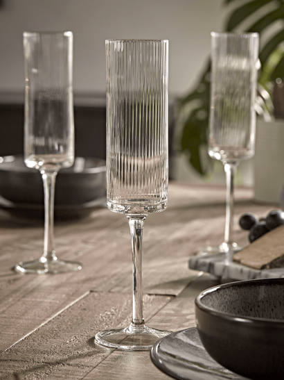 NEW Six Fluted Champagne Flutes