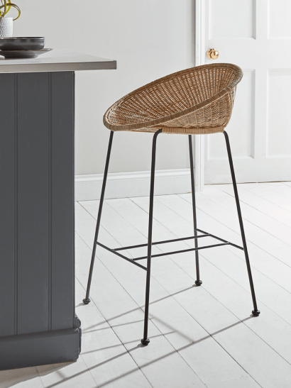 Wicker Cone Counter Stool