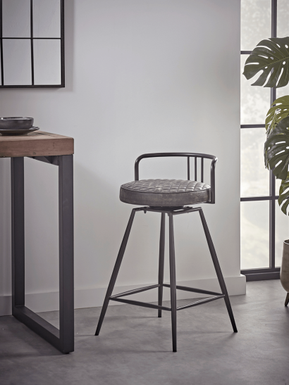 Kew Counter Stool - Grey