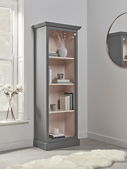 Petite Bookcase - Grey & Blush