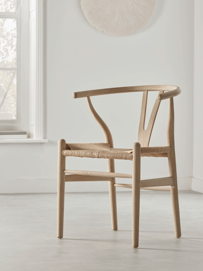NEW Raw Oak Bow Back Dining Chair