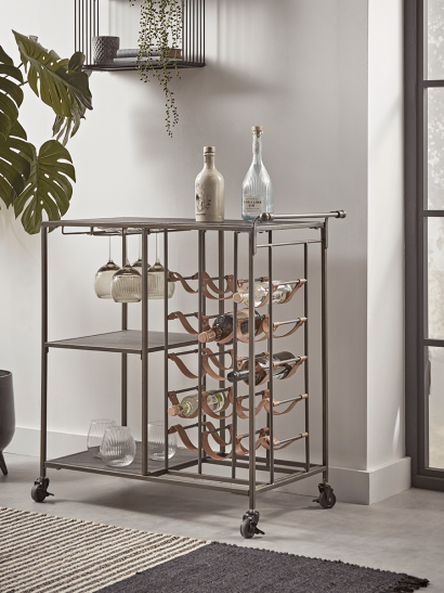 NEW Industrial Style Bottle Trolley