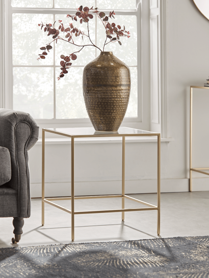 Villette Side Table - Soft Gold