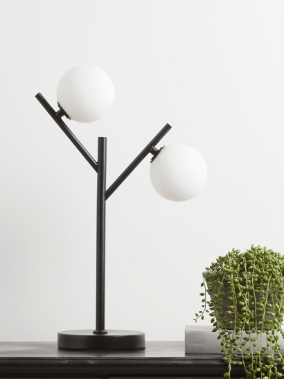 NEW Double Frosted Globe Table Lamp