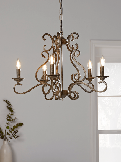 NEW Elegant Metal Chandelier