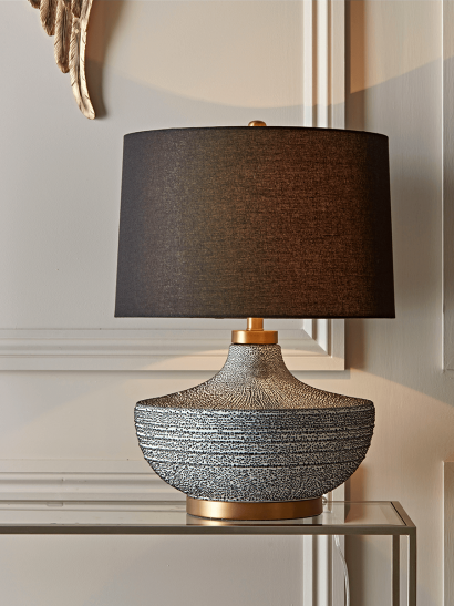 NEW Monochrome Speckled Table Lamp