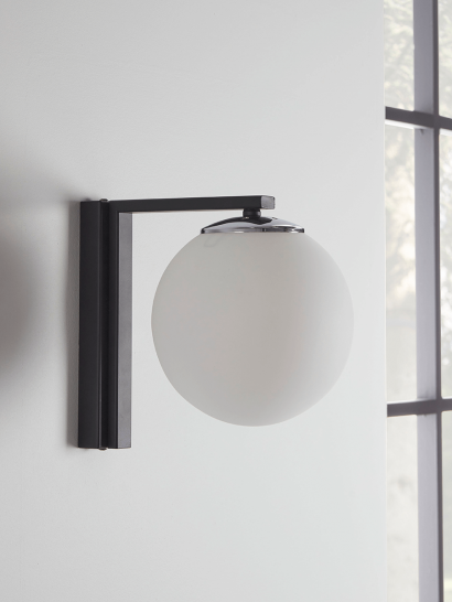 NEW Frosted Globe Wall Light