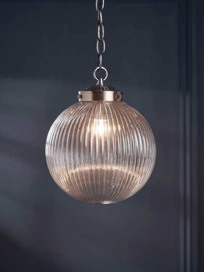 NEW Deco Round Fluted Pendant
