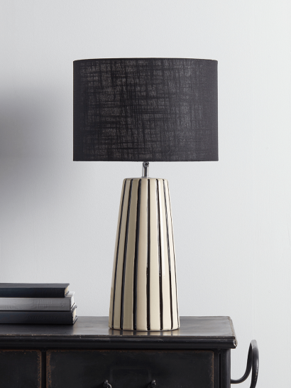 NEW Monochrome Striped Table Lamp