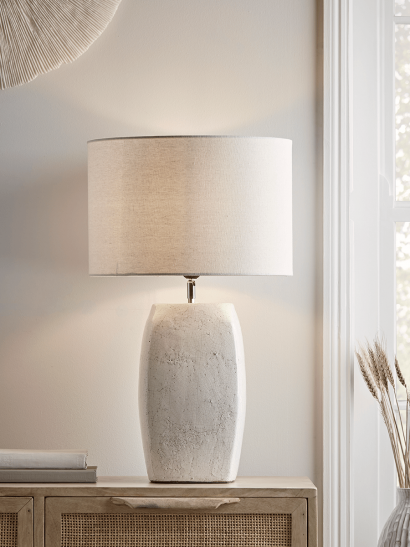 NEW Crackle Glaze Block Table Lamp