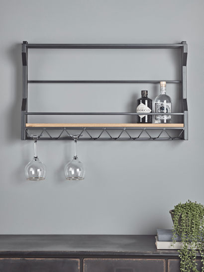Industrial Bottle Shelf