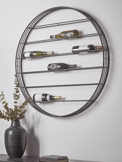 Round Wall  Mounted Wine Rack