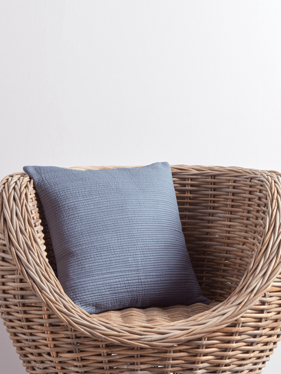 NEW Cotton Quilted Cushion - Teal