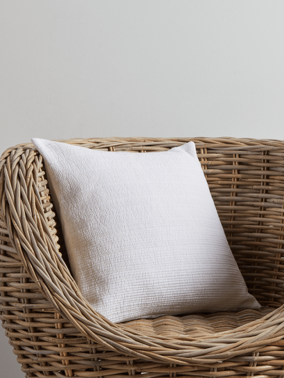 NEW Cotton Quilted Cushion - White