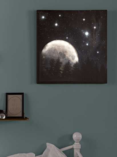 NEW Twinkle Light Up Galaxy Canvas