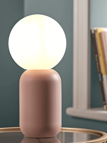 Frosted Globe Table Lamp - Blush