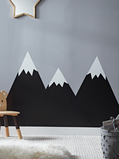 Chalk Board Mountain Wall Stickers