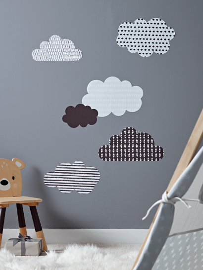 Monochrome Cloud Wall Stickers