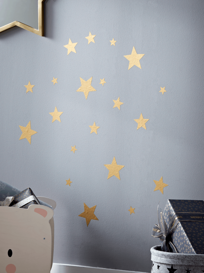 NEW Gold Star Wall Stickers