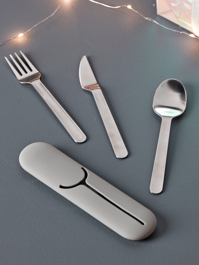 To Go Cutlery Set - Grey
