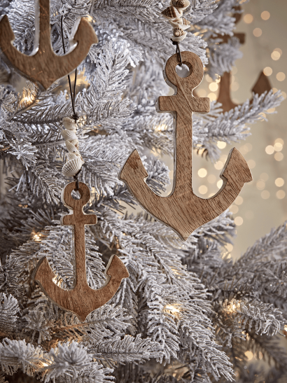 NEW Four Wooden Anchors
