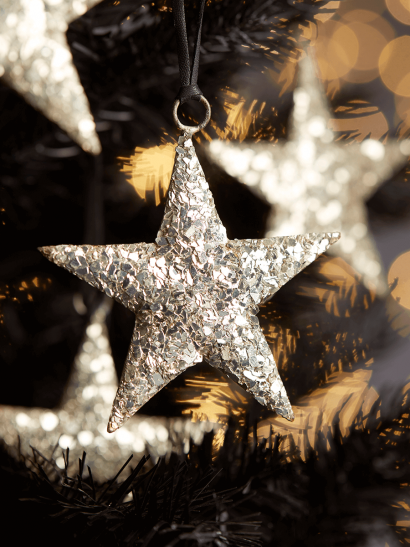 NEW Four Gold Metal Hanging Stars