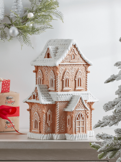 NEW Faux Gingerbread House - Large