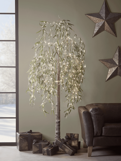 NEW Indoor Outdoor Light Up Faux Willow Tree - Large