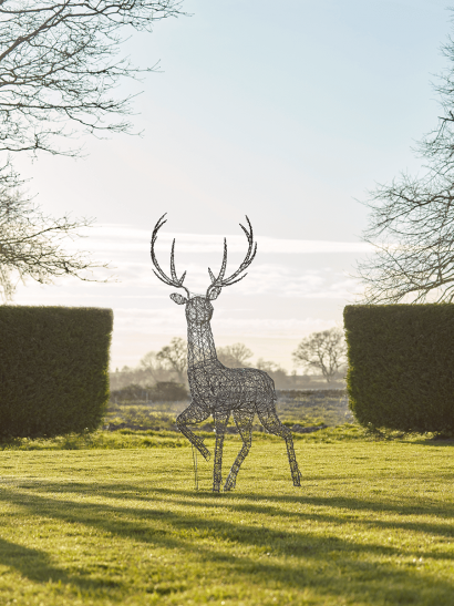 NEW Faux Rattan Light Up Stag