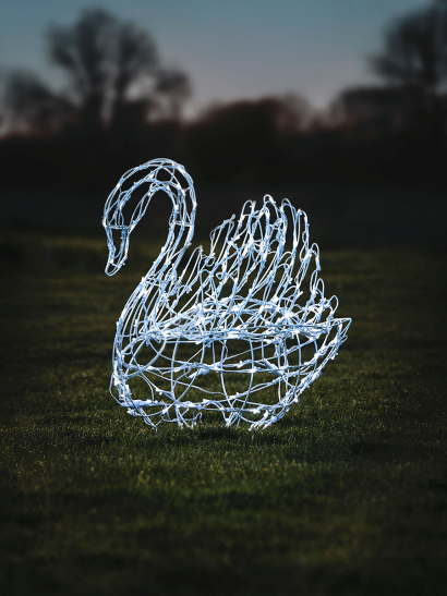 NEW Light Up Wire Swan