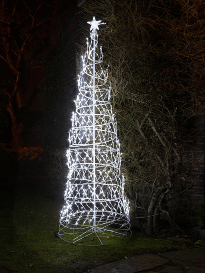 NEW Icy White Light Up Spiral Tree