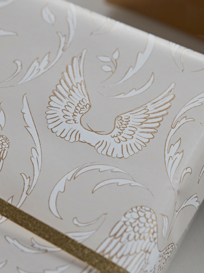 NEW Angel Wings Reversible Wrapping Paper