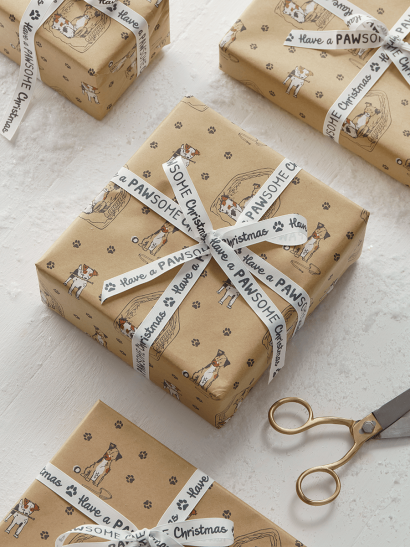 NEW Dog Days Recycled Wrapping Paper