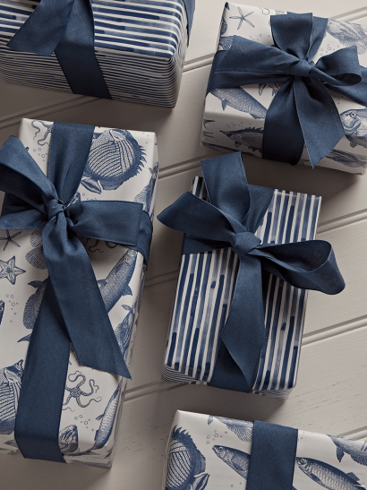 NEW Under The Sea Reversible Wrapping Paper