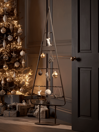 NEW Curved Metal Silhouette Tree