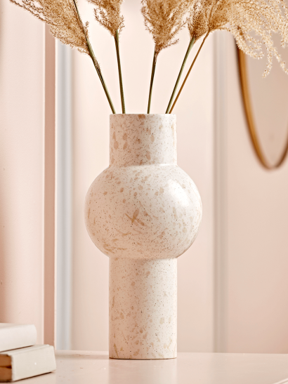 NEW Speckled Tall Bulb Vase