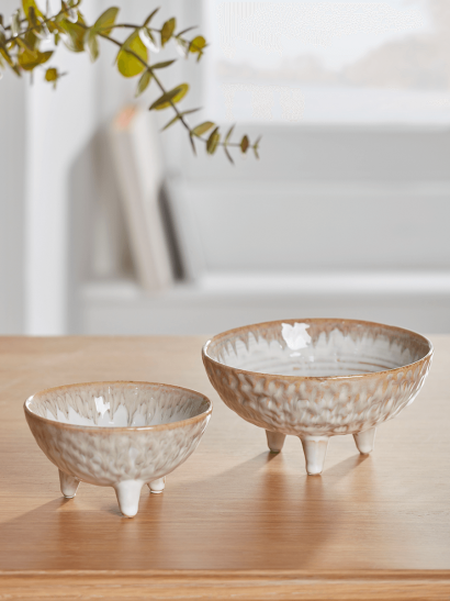 NEW Two Glazed Standing Bowls