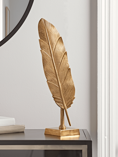 NEW Soft Gold Standing Feather