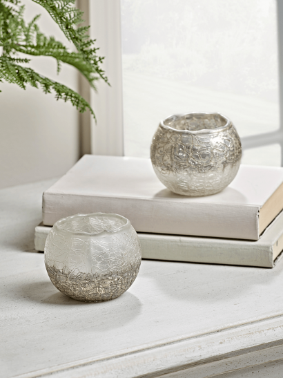 NEW Two Dipped Textured Tealight Holders