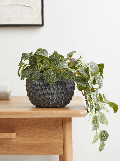NEW Layered Cement Planter - Grey