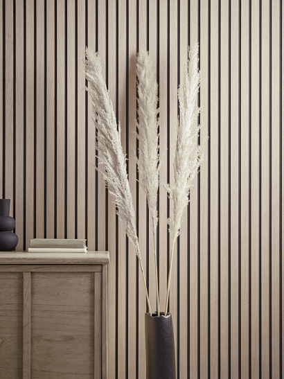 NEW Three Oversized Dried Pampas Grass Plumes