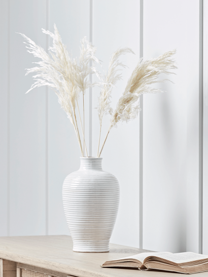 NEW Six Dried Pampas Grass Plumes