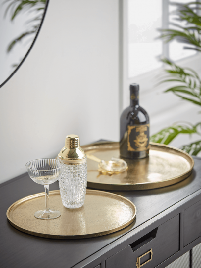 NEW Two Textured Gold Trays
