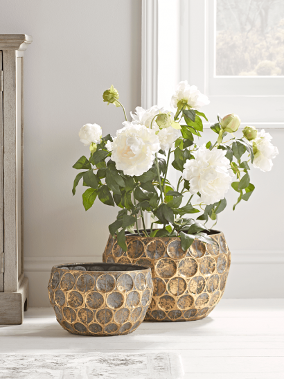 NEW Two Gilded Planters