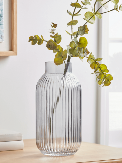 NEW Fluted Glass Vase - Clear