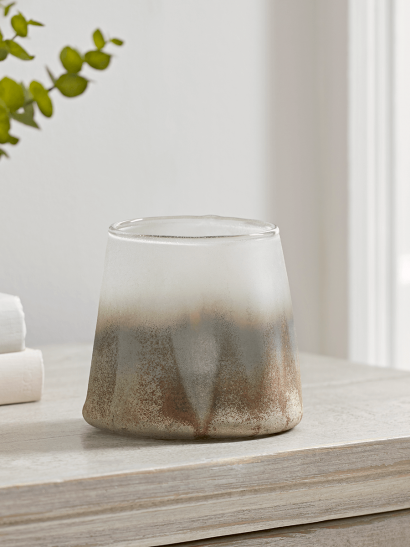 NEW Warped Frosted Glass Tea Light Holder