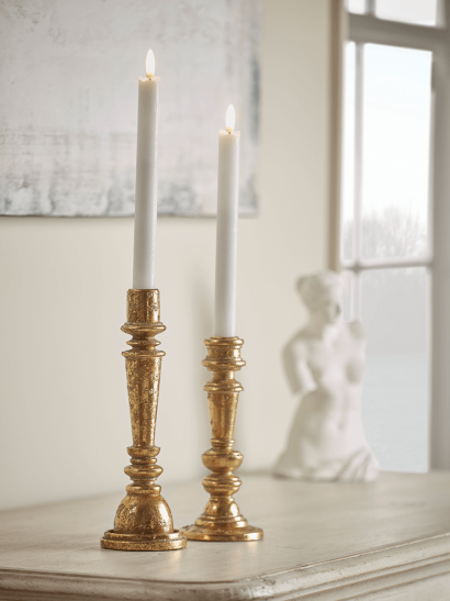 NEW Gold Dinner Candle Holder