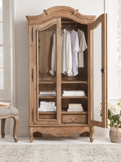 NEW Delphine Reclaimed Wood Armoire