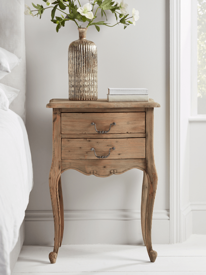 NEW Delphine Reclaimed Wood Bedside Table